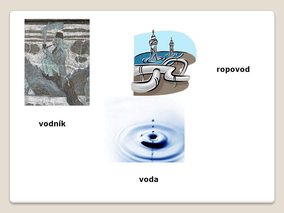 voda ropovod vodník