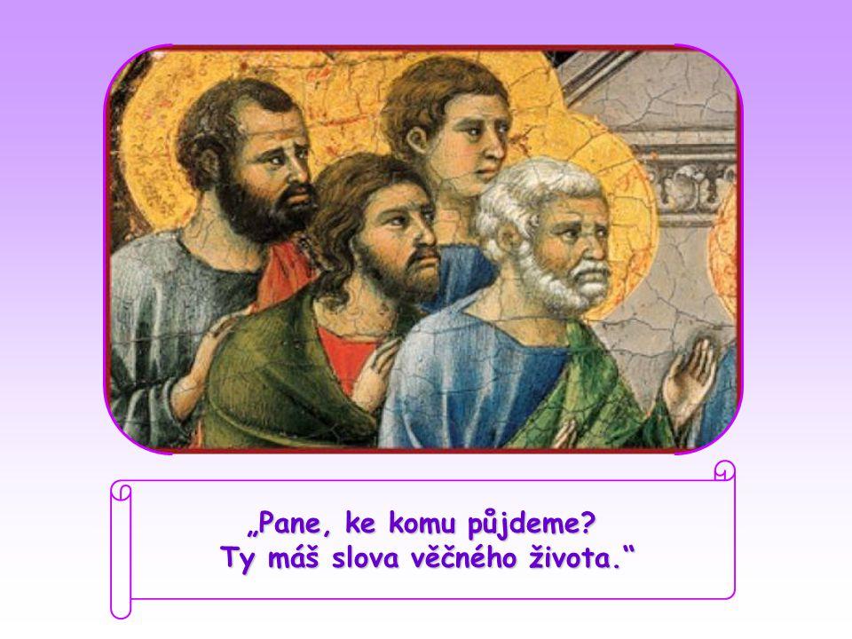 """""""Pane, ke komu půjdeme? Ty máš slova věčného života."""