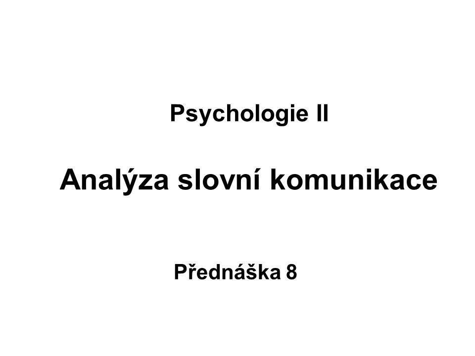 5.1.Co lze rozpoznat ze způsobu řeči. Podle způsobu řeči lze rozpoznat –perfekcionistu (resp.