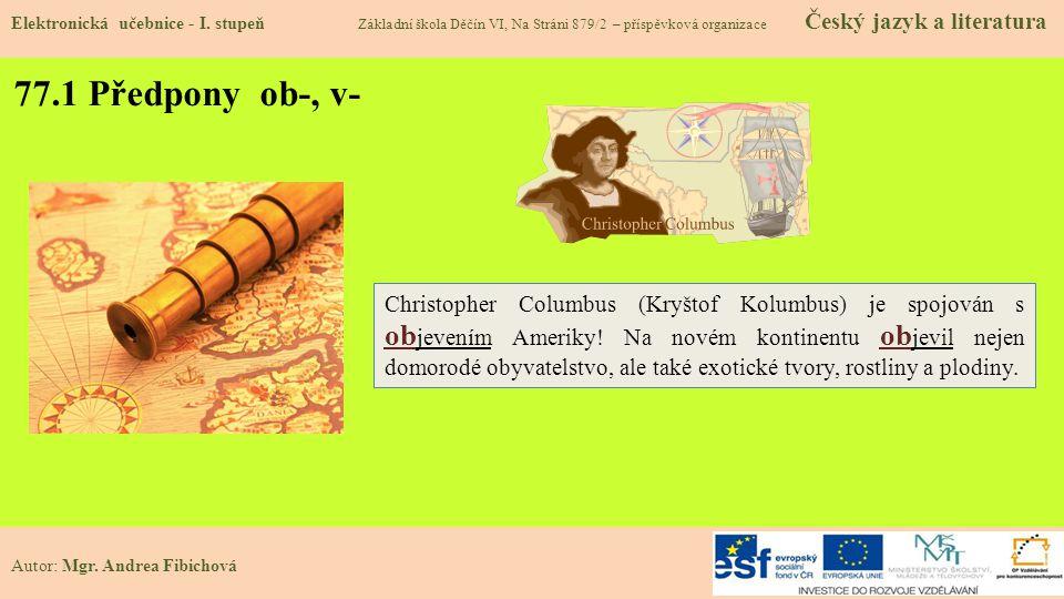 77.1 Předpony ob-, v- Elektronická učebnice - I.