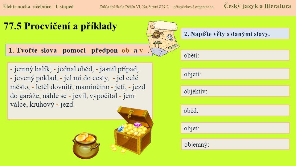 77.5 Procvičení a příklady Elektronická učebnice - I.