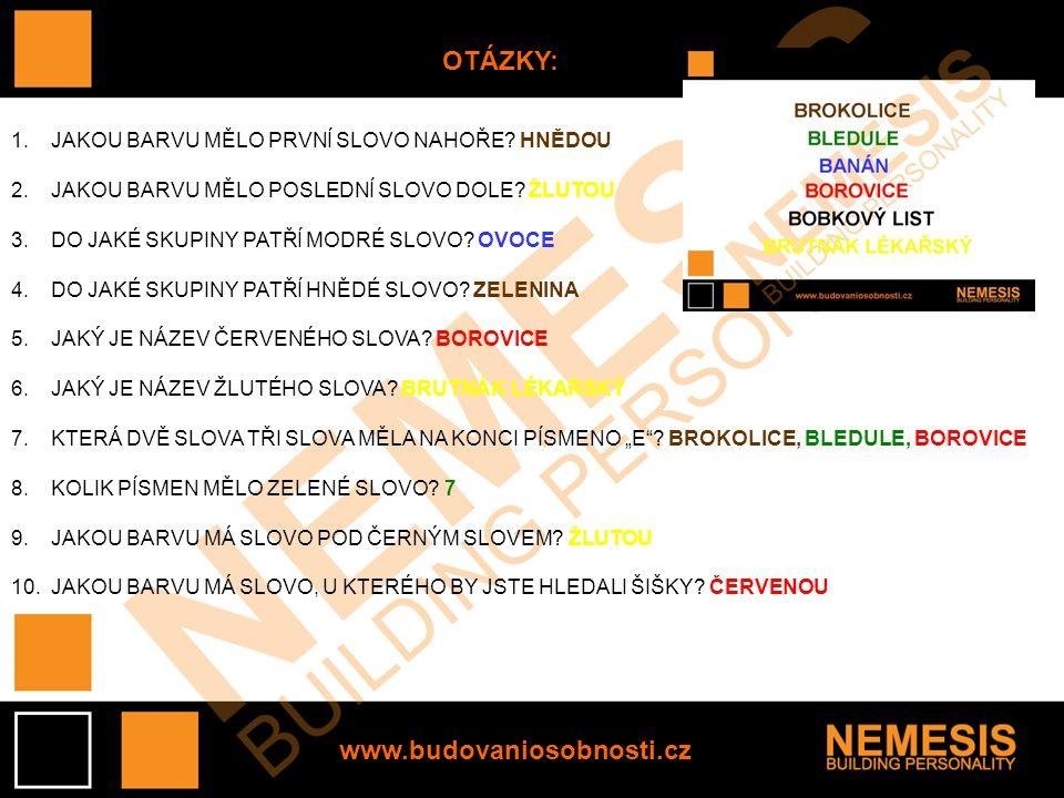 www.budovaniosobnosti.cz INTERPRETACE VÝSLEDKŮ 9-10 SPRÁVNĚ: VAŠE FOTOGRAFICKÁ PAMĚŤ JE JEDINEČNÁ.