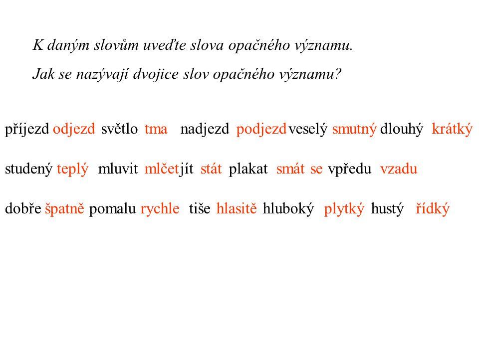 Která slova do daných řad nepatří.Ke slovům v každé řadě pak řekněte jejich společný název.