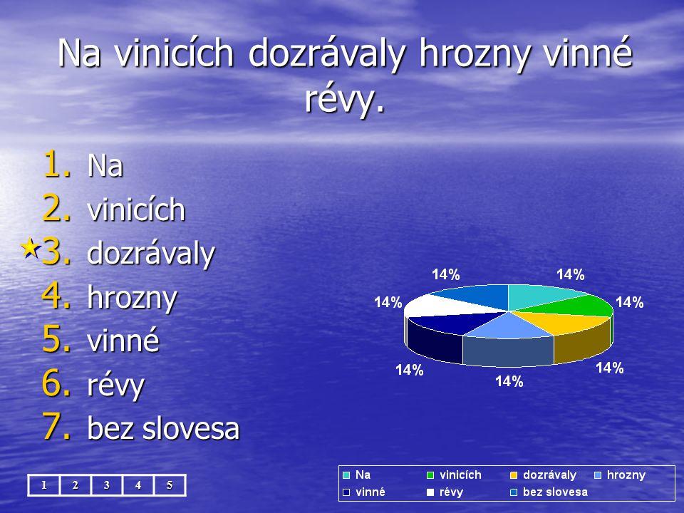 Na vinicích dozrávaly hrozny vinné révy. 12345 1.