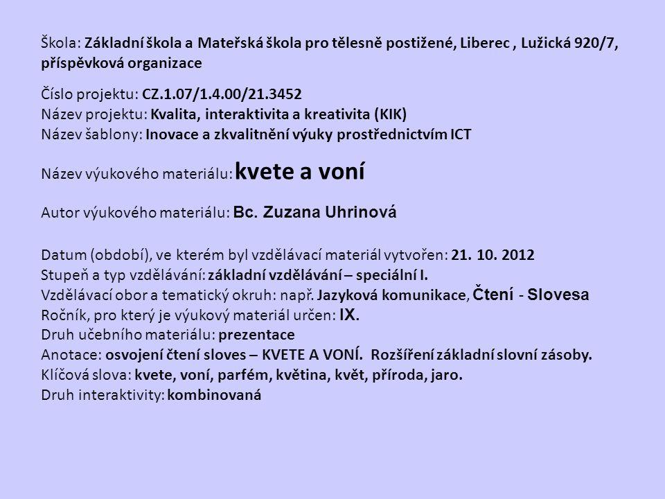 VY_32_INOVACE_Čt.14.03.1 z 1 KVETE A VONÍ Bc.