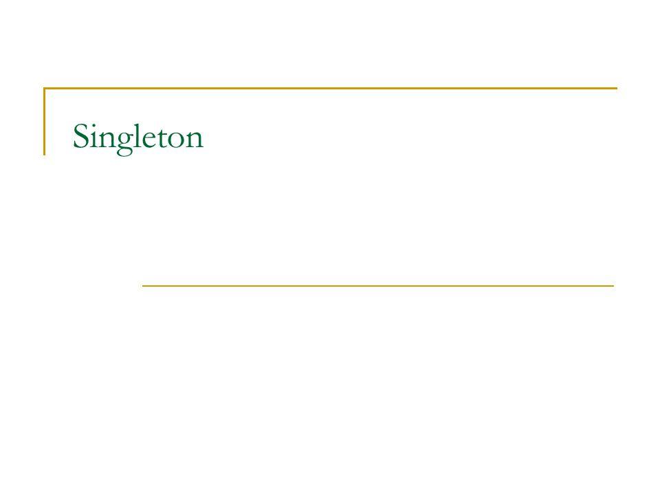 Singleton – Java problémy a enum implementace public enum Singleton { INSTANCE; public void doSomethingUseful() {...
