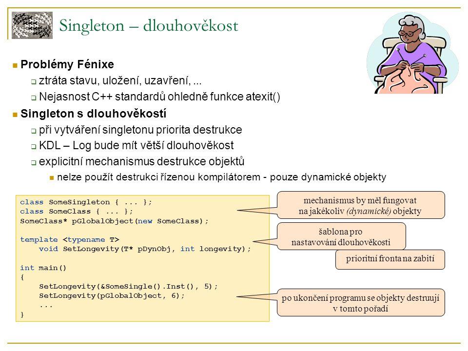class SomeSingleton {... }; class SomeClass {... }; SomeClass* pGlobalObject(new SomeClass); template void SetLongevity(T* pDynObj, int longevity); in