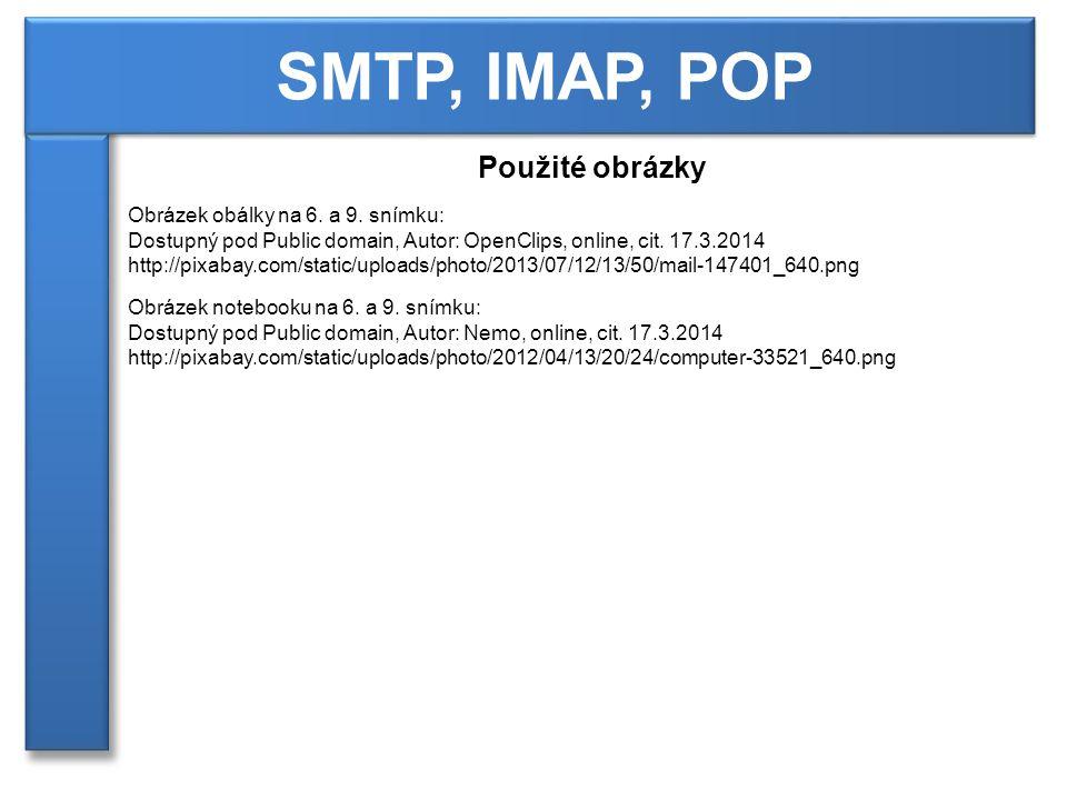 SMTP, IMAP, POP Použité obrázky Obrázek obálky na 6.