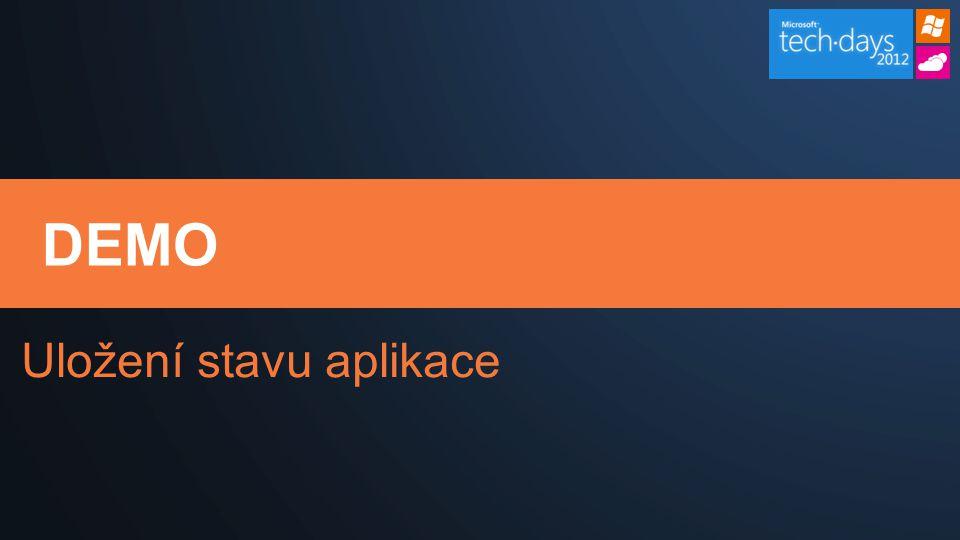 DEMO Uložení stavu aplikace
