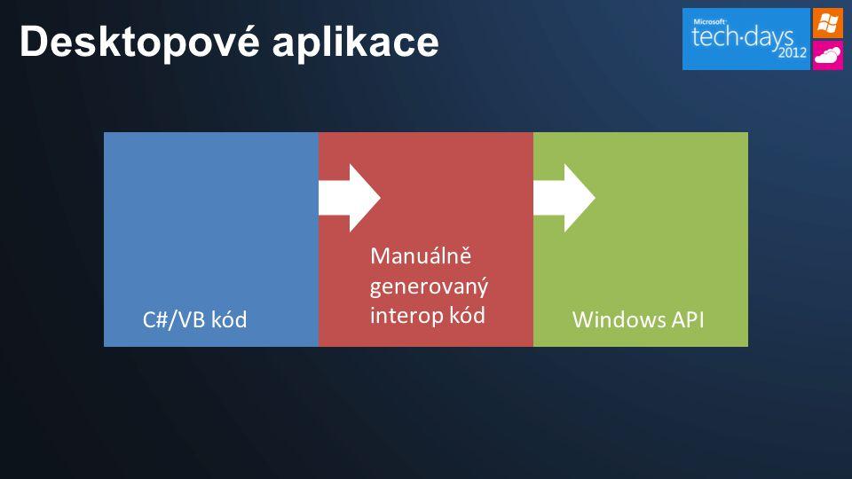 Desktopové aplikace C#/VB kódWindows API Manuálně generovaný interop kód