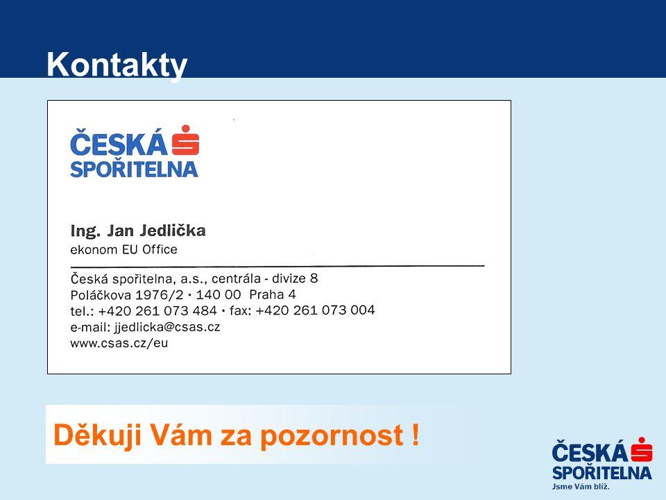Kontakty Děkuji Vám za pozornost !