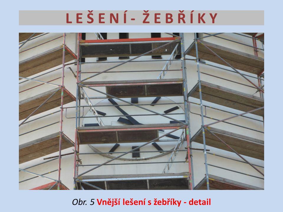 L E Š E N Í - Ž E B Ř Í K Y Obr. 5 Vnější lešení s žebříky - detail