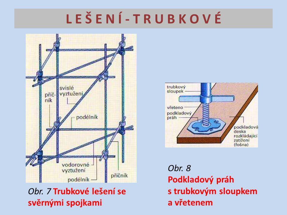 L E Š E N Í - T R U B K O V É Obr.7 Trubkové lešení se svěrnými spojkami Obr.