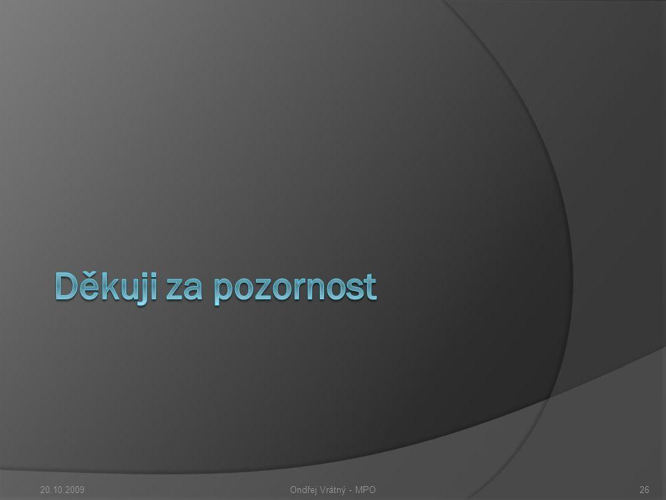 20.10.2009Ondřej Vrátný - MPO26