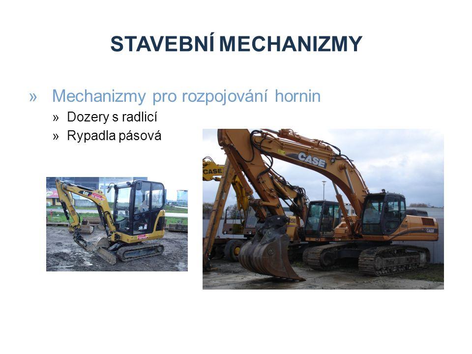 STAVEBNÍ MECHANIZMY »Mechanizmy pro rozpojování hornin »Dozery s radlicí »Rypadla pásová