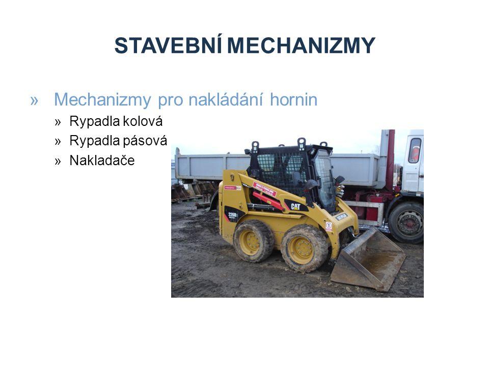 STAVEBNÍ MECHANIZMY »Mechanizmy pro nakládání hornin »Rypadla kolová »Rypadla pásová »Nakladače