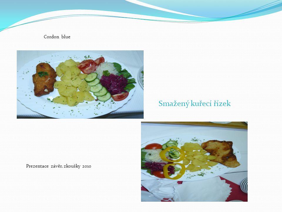 Prezentace závěr. zkoušky 2010 Smažený kuřecí řízek Cordon blue