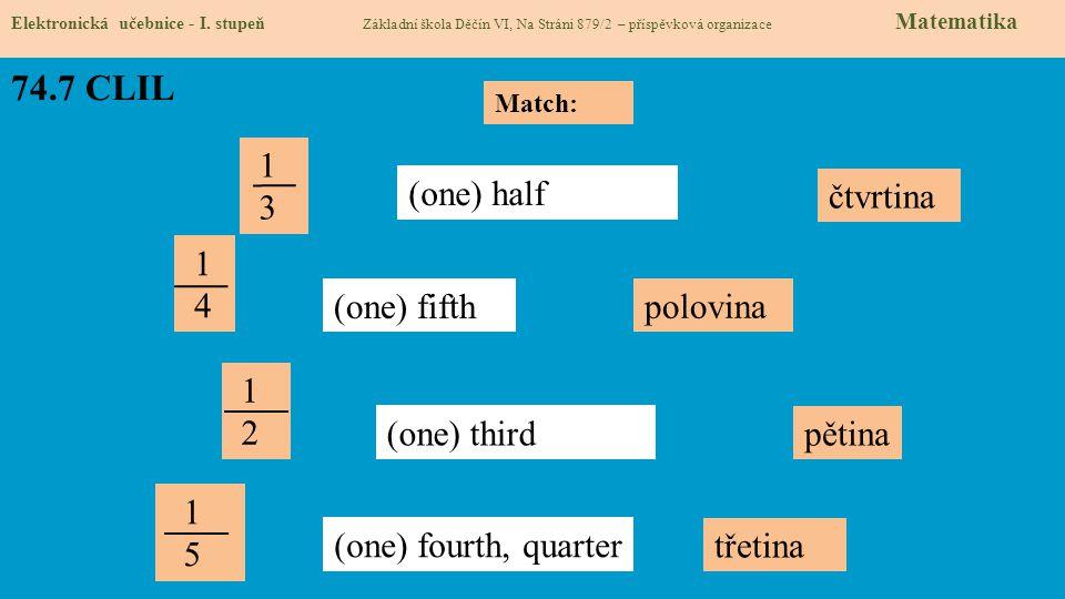 74.8 Test znalostí Správné odpovědi: 1.b 2.c 3.a 4.d Test na známku Elektronická učebnice - I.