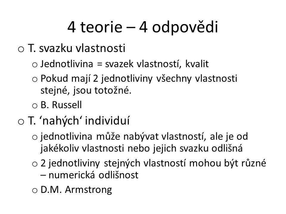 4 teorie – 4 odpovědi o T.