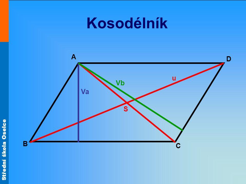 Střední škola Oselce Kosodélník A C B D u S Va Vb