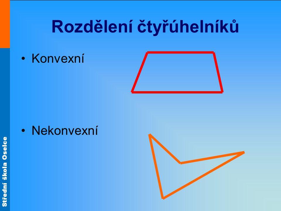 Střední škola Oselce Rozdělení čtyřúhelníků Konvexní Nekonvexní
