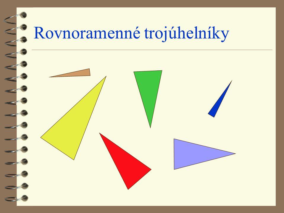 Rovnoramenné trojúhelníky