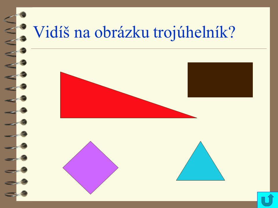Vidíš na obrázku trojúhelník?