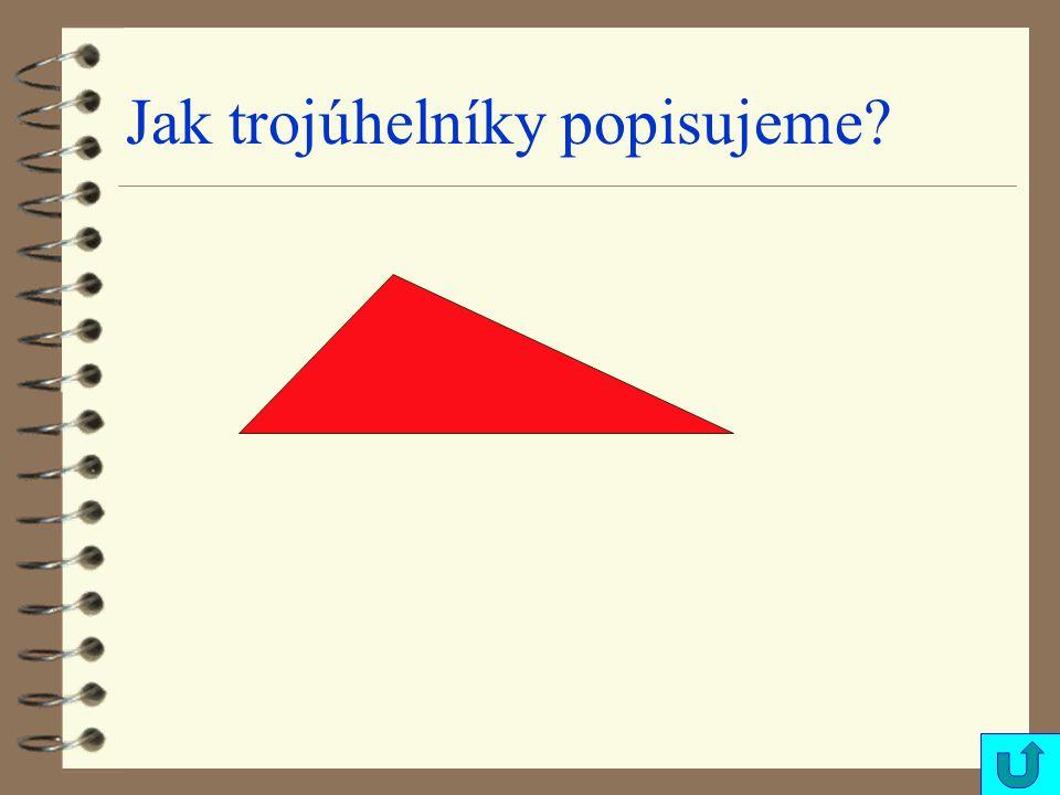 Jak trojúhelníky popisujeme?