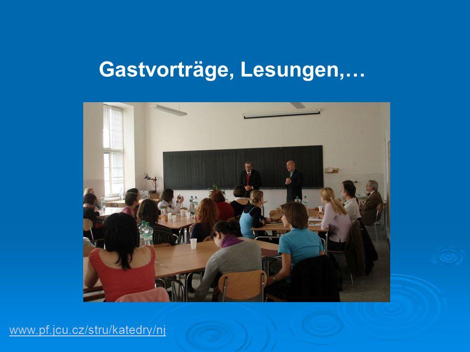 www.pf.jcu.cz/stru/katedry/nj Gastvorträge, Lesungen,…