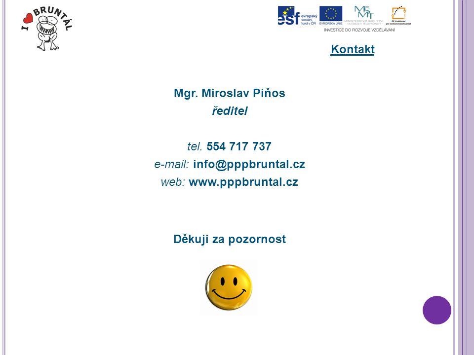 Kontakt Mgr. Miroslav Piňos ředitel tel.