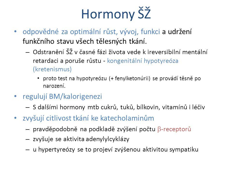 Hormony ŠŽ odpovědné za optimální růst, vývoj, funkci a udržení funkčního stavu všech tělesných tkání.