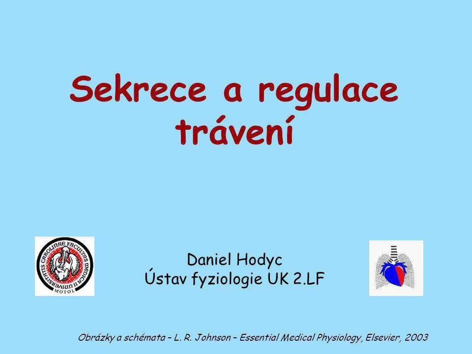 Hormonální regulace sekrece - menší váznam než autonomní regulace - na rozdíl od ostatních částí GIT (žaludek, pankreas) - Aldosteron ovlivňuje koncentraci iontů, ne objem slin