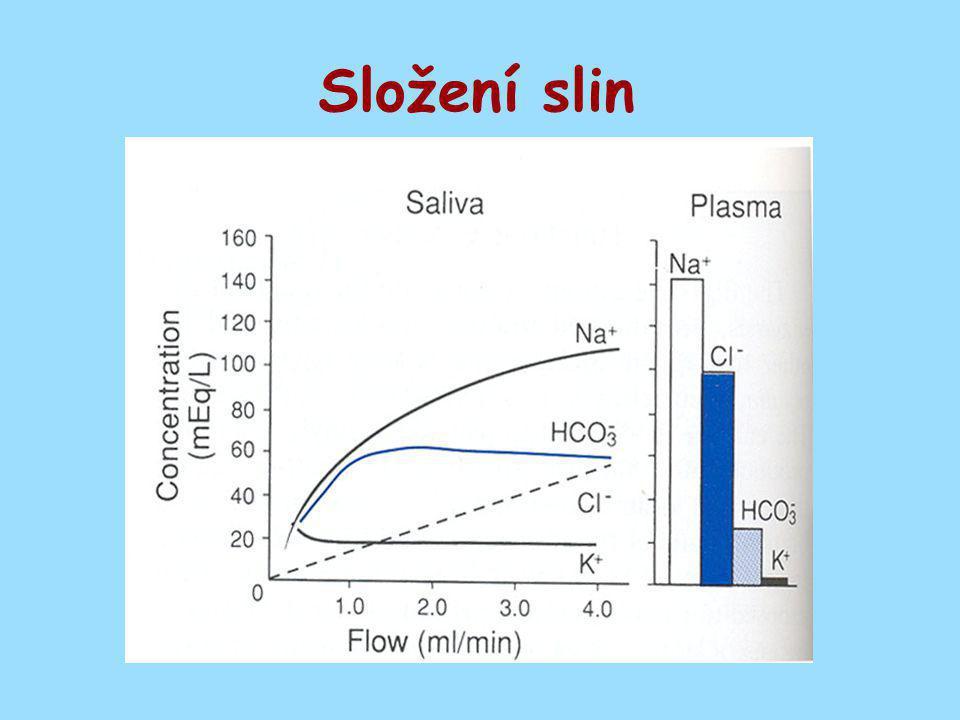 Sekrece kyseliny chlorovodíkové – Parietální buňka Inaktivní buňkaSecernující buňka