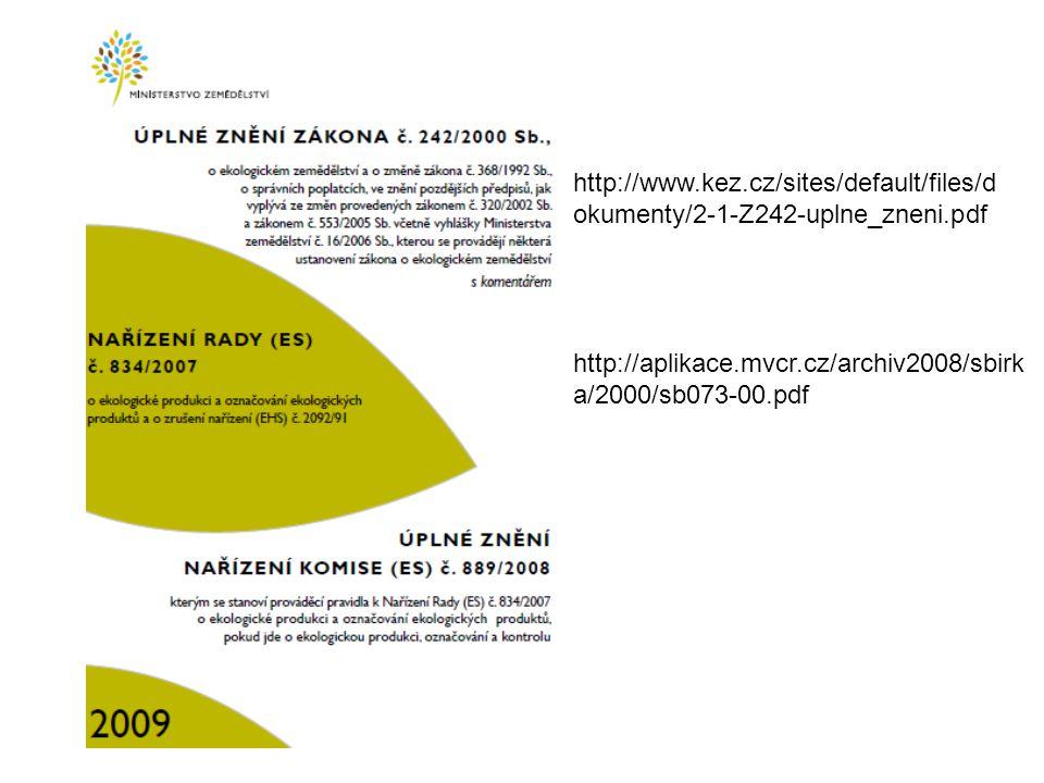 http://www.kez.cz/sites/default/files/d okumenty/2-1-Z242-uplne_zneni.pdf http://aplikace.mvcr.cz/archiv2008/sbirk a/2000/sb073-00.pdf