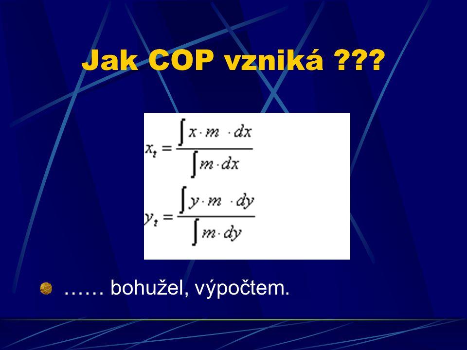 Jak COP vzniká ??? …… bohužel, výpočtem.