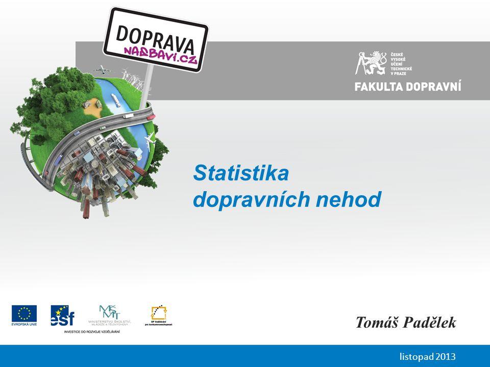Statistika dopravních nehod Tomáš Padělek listopad 2013