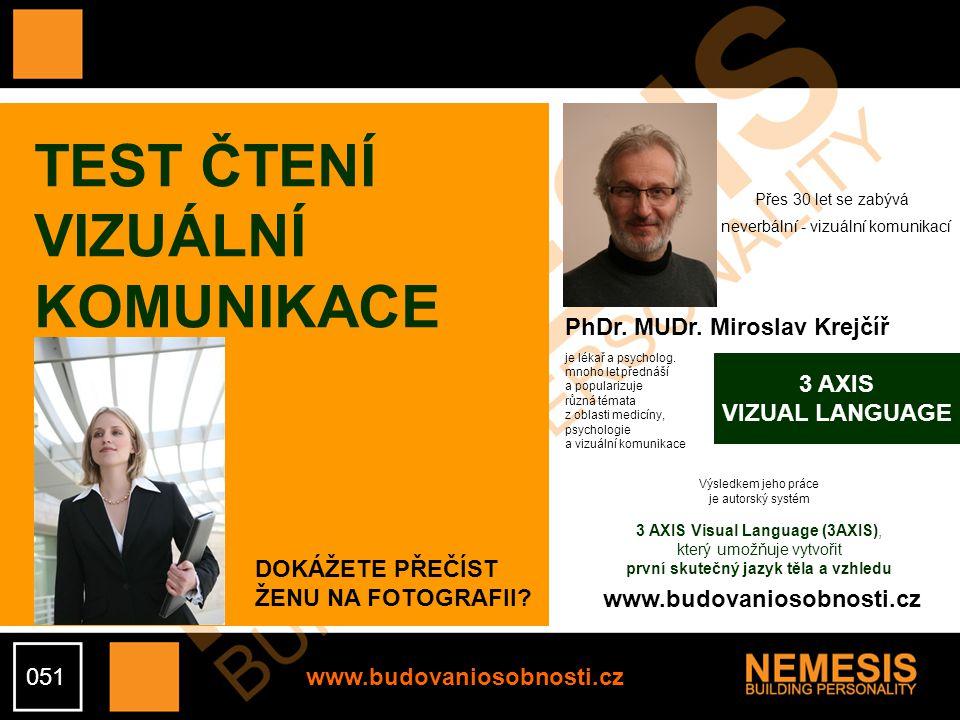 www.budovaniosobnosti.cz TEST ČTENÍ VIZUÁLNÍ KOMUNIKACE PhDr.
