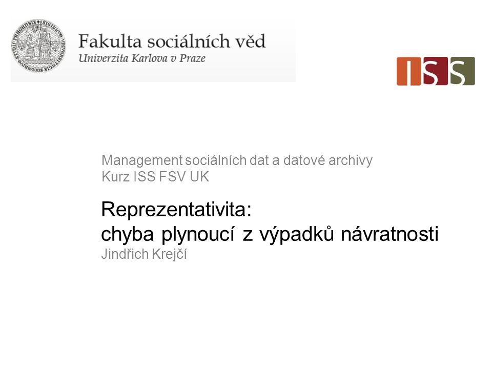 "Str.2 Krejčí, J. 2007. ""Non-Response in Probability Sample Surveys in the Czech Republic ."