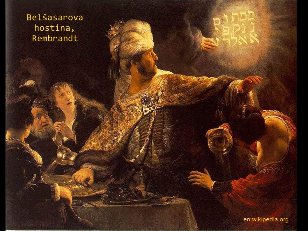 Belšasarova hostina, Rembrandt en.wikipedia.org