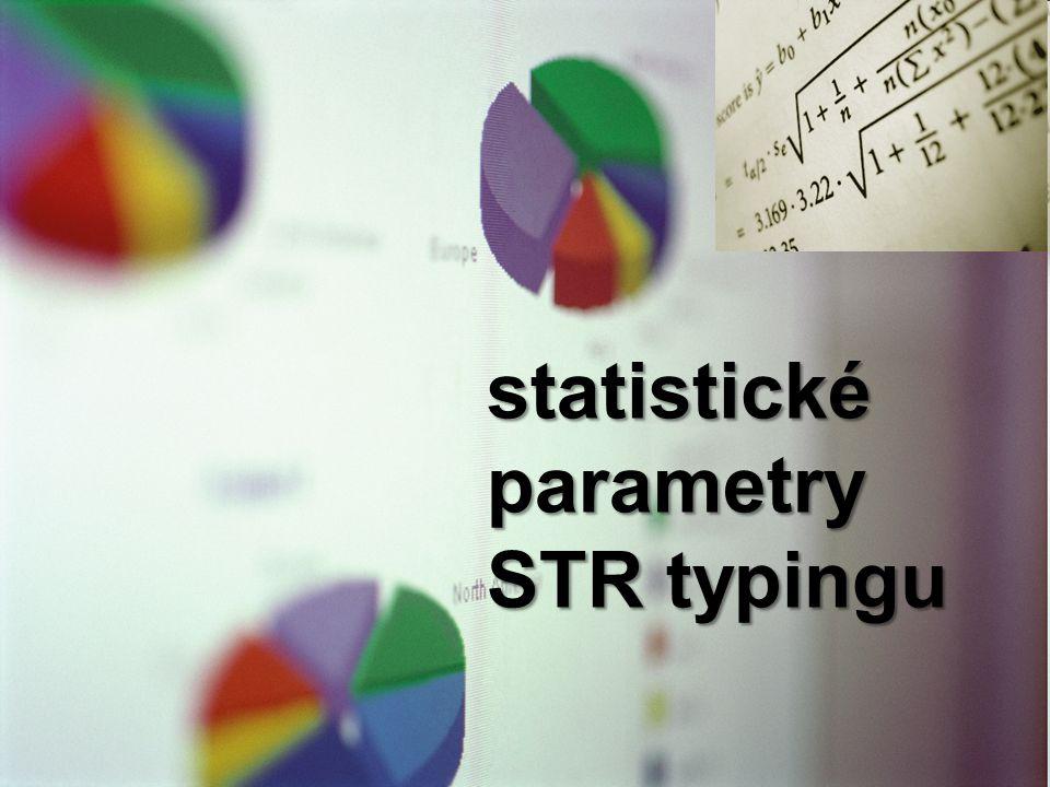 statistické parametry STR typingu