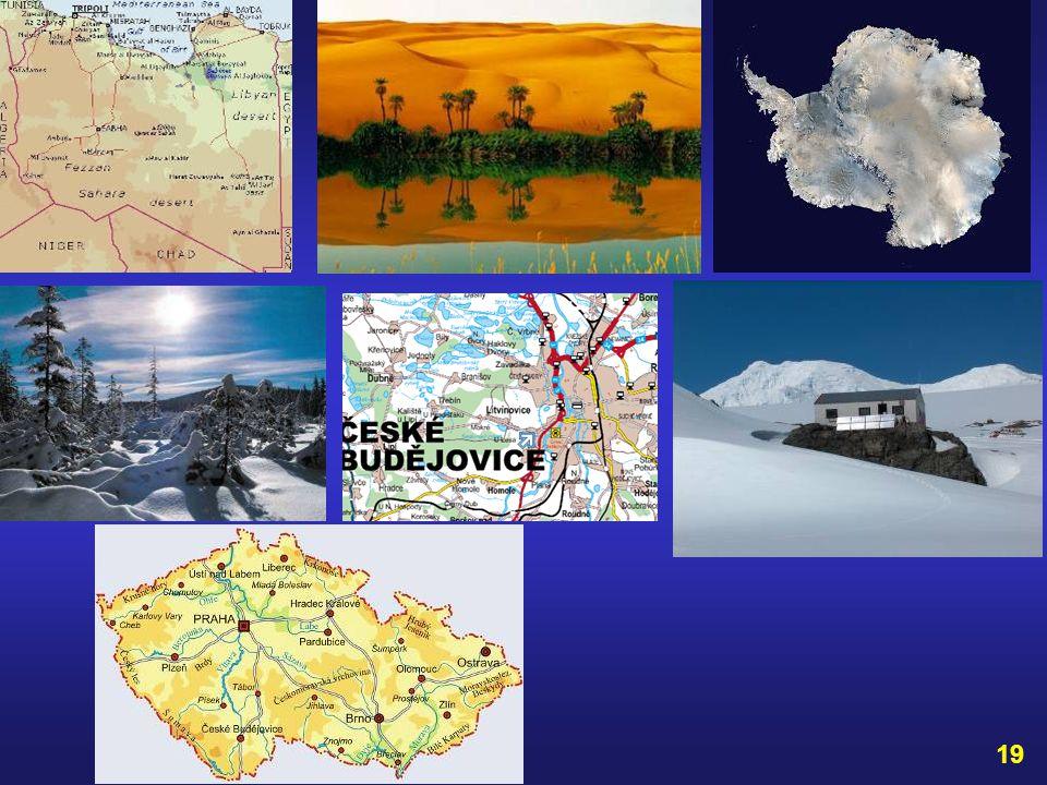 Teplotní rekordy: Nejvyšší teplota vzduch ve stínu byla naměřena v roce 1922 v Aziziji v Libyi 58°C. Nejnižší teplota vzduchu byla naměřena v roce 198