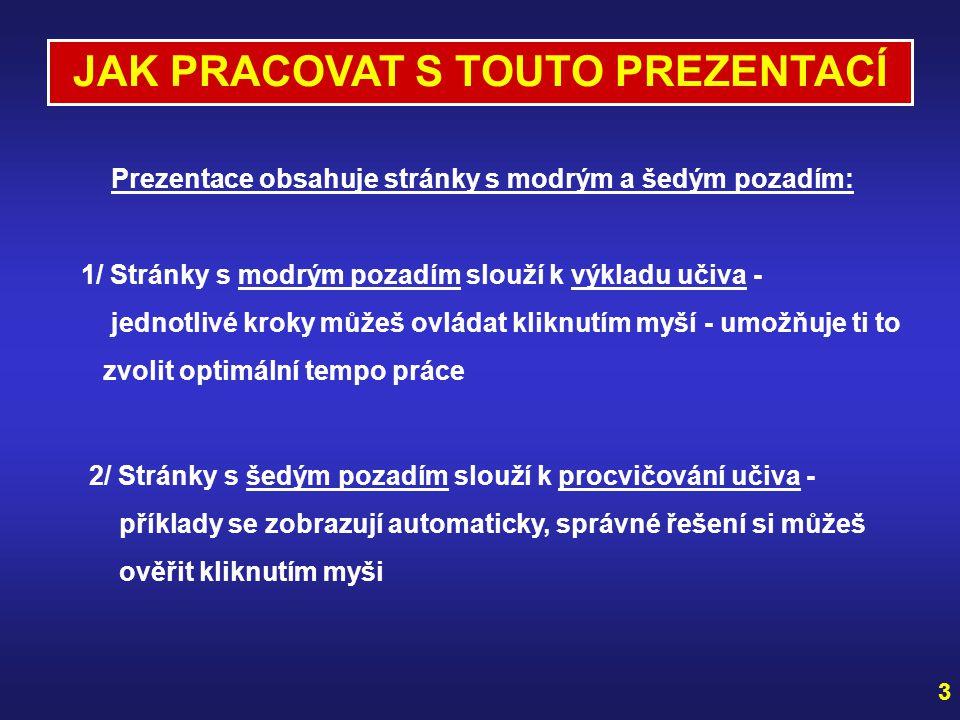 Zpracovala Mgr. Lenka Doležalová a Mgr. Jana Říhová pod metodickým vedením RNDr. Růženy Blažkové, CSc. 2