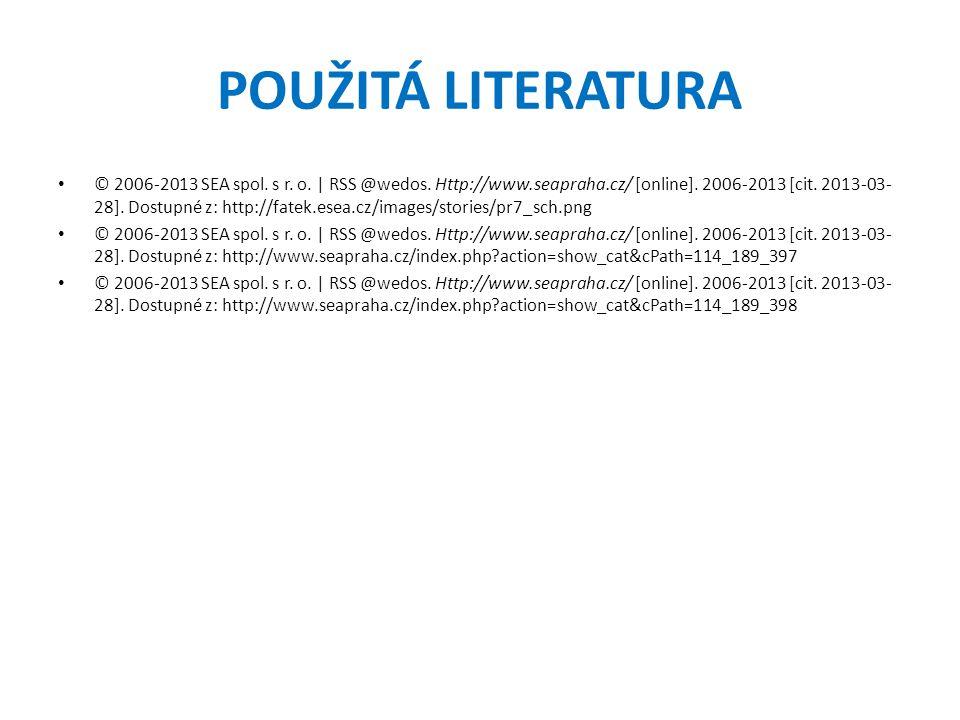 POUŽITÁ LITERATURA © 2006-2013 SEA spol.s r. o. | RSS @wedos.