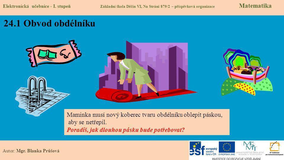 24.1 Obvod obdélníku Elektronická učebnice - I.