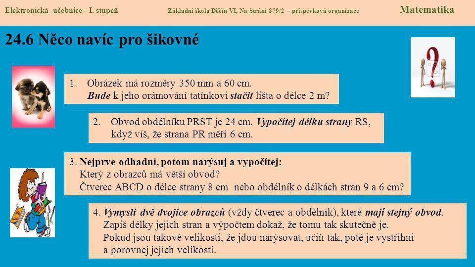 24.6 Něco navíc pro šikovné Elektronická učebnice - I.