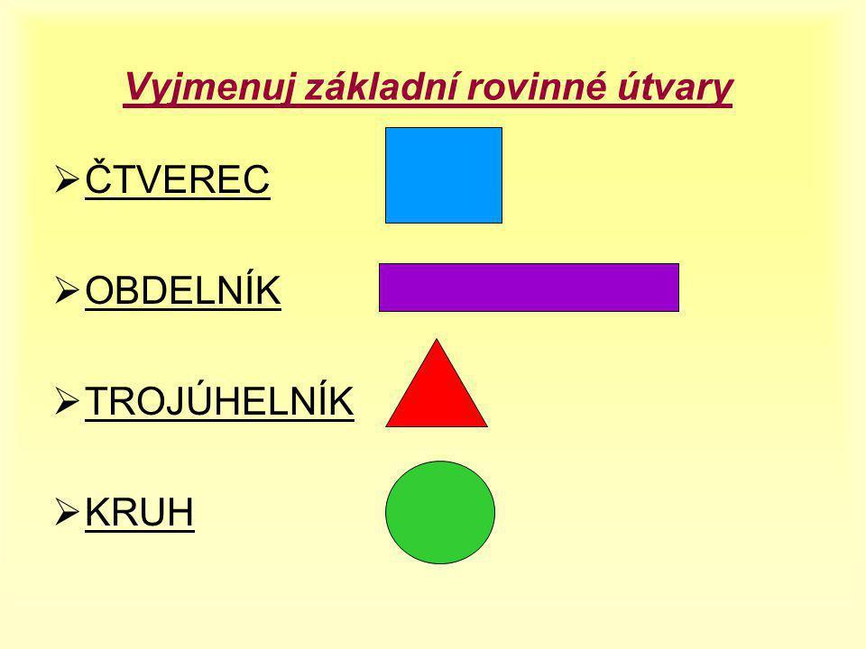 ROVINNÉ ÚTVARY OPAKOVÁNÍ Jana Kubíčková Anna Szymeczková Ročník: 4