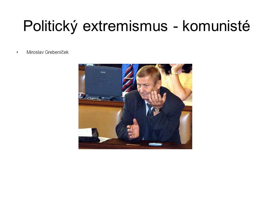 Politický extremismus - komunisté Miroslav Grebeníček