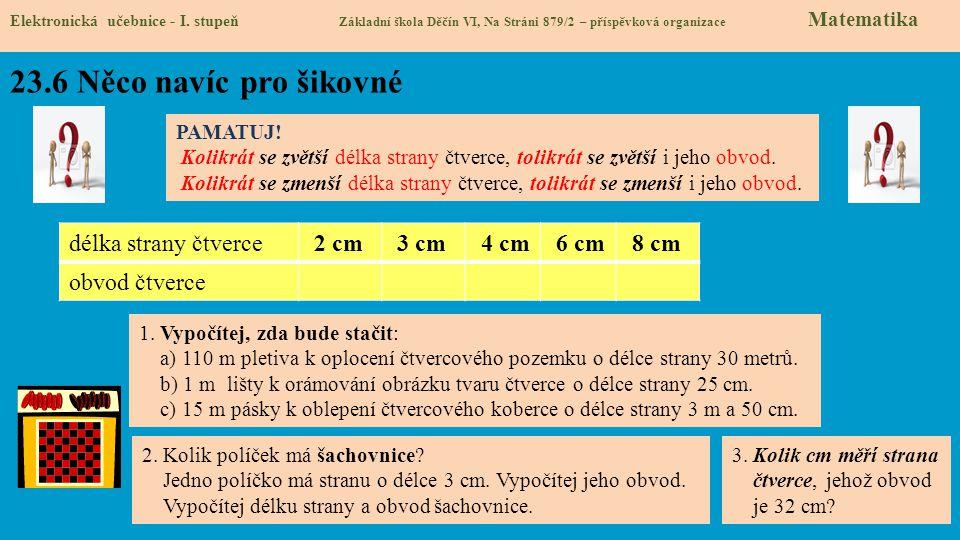 23.6 Něco navíc pro šikovné Elektronická učebnice - I.