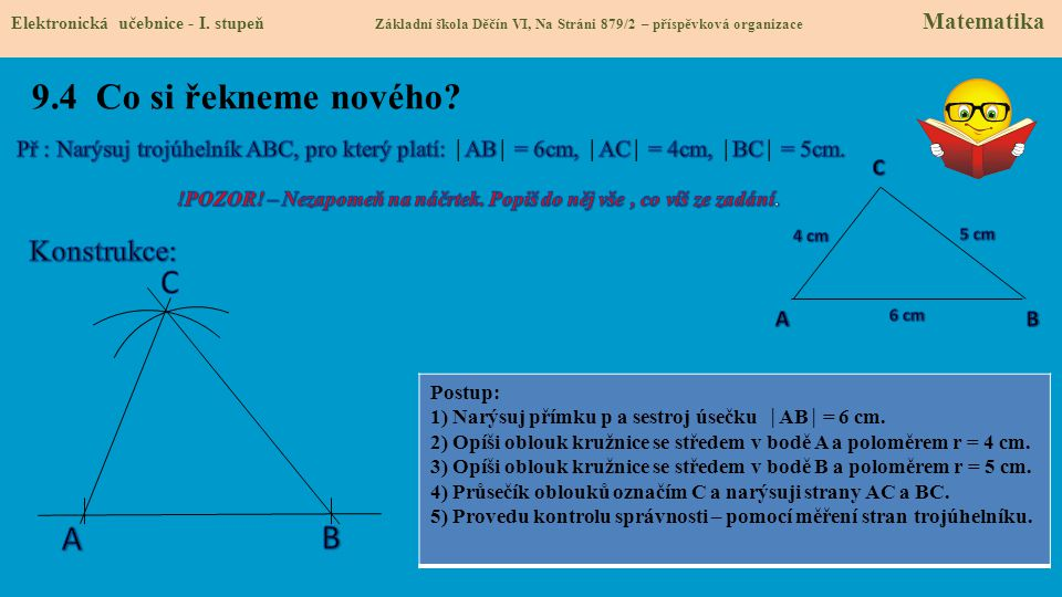 9.5 Procvičení a příklady Slide č.5 – procvičení, příklady Elektronická učebnice - I.