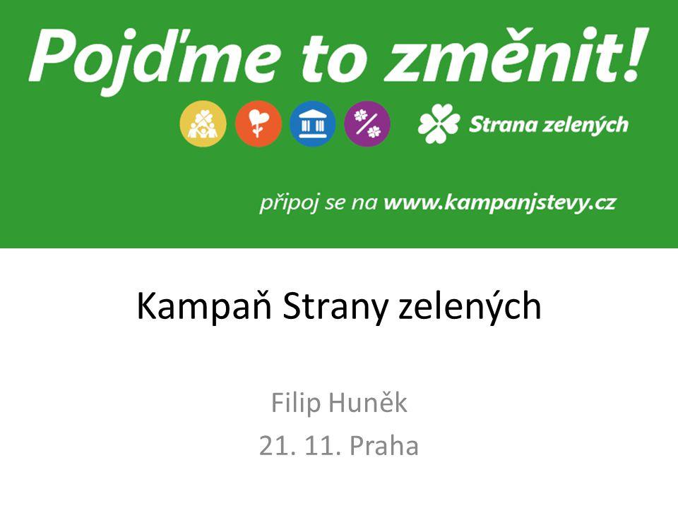 Kampaň Strany zelených Filip Huněk 21. 11. Praha
